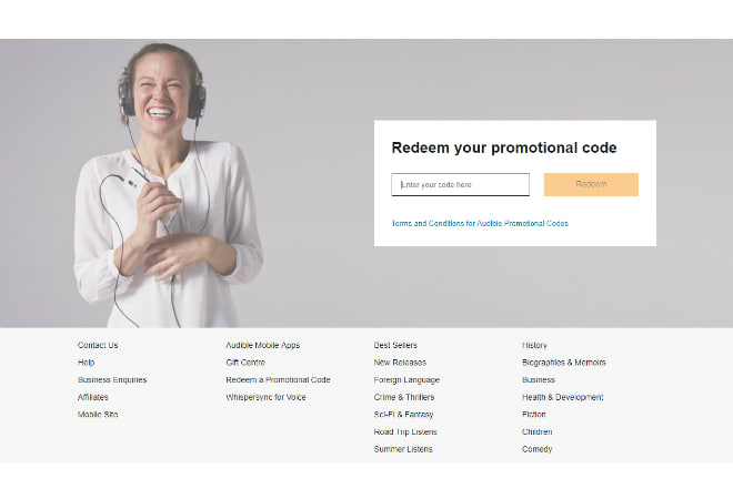 Audible promo code Ireland Indy