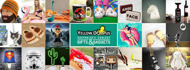 Yellow octopus banner